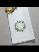 Crown Linen Towel - Lemon Wreath