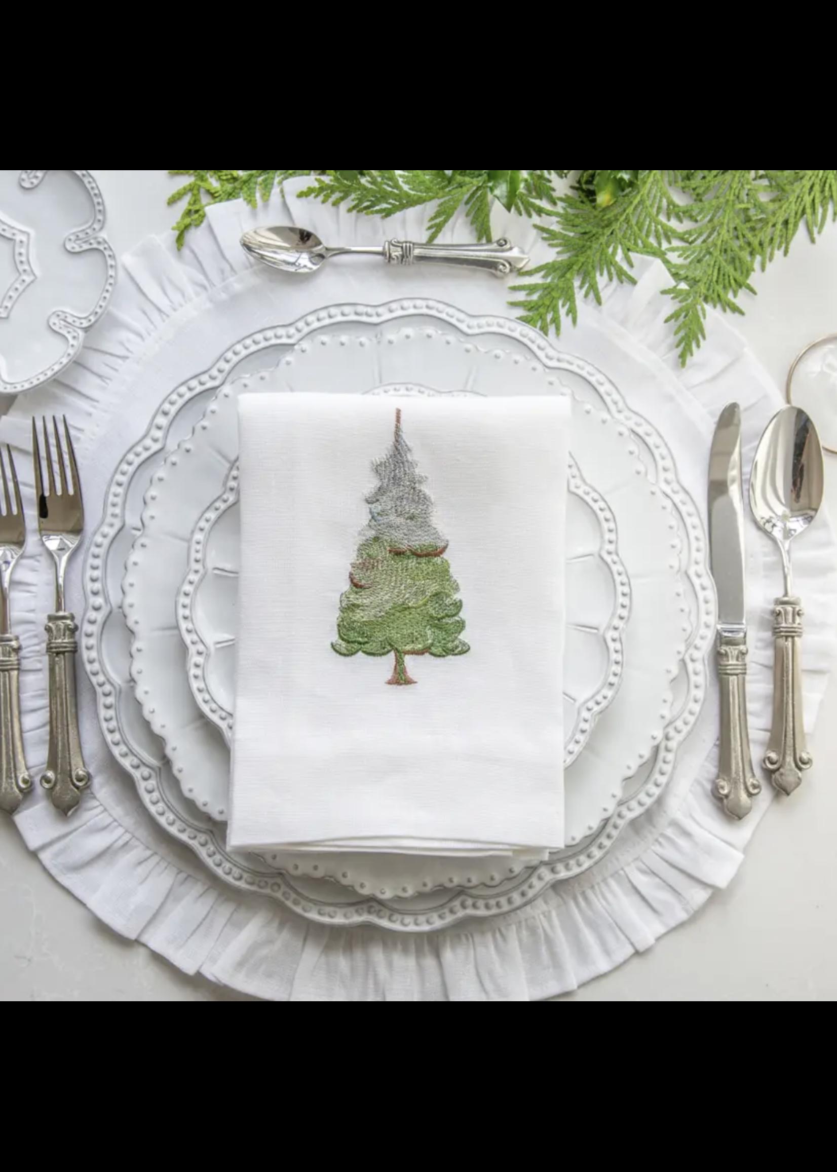 Crown Linen Towel - Snowy Pine