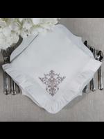 Crown Linen Napkin Large - Victorian White Ruffle