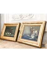 Antique Antique French Pair of Still Life Paintings