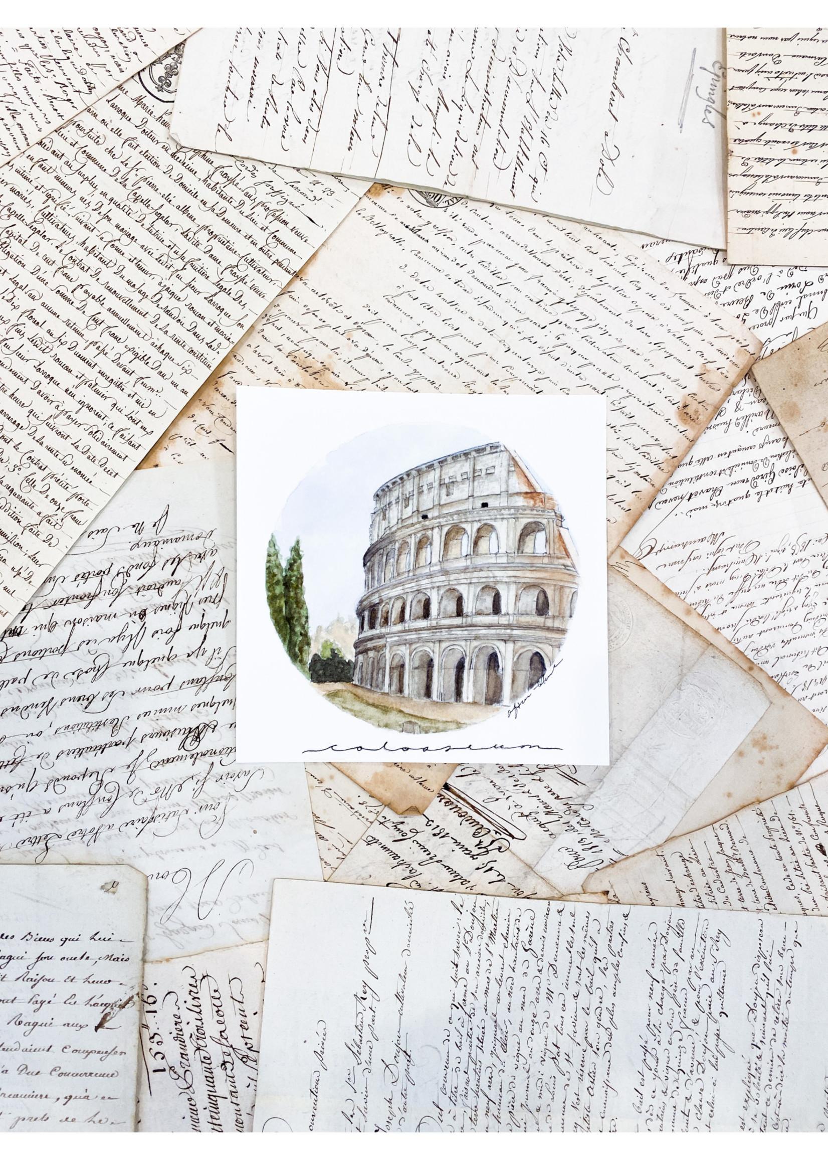 """Afton Hoch Art Art Print 6""""x6"""" - Colosseum"""