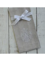 Crown Linen Towel - Crest Flax