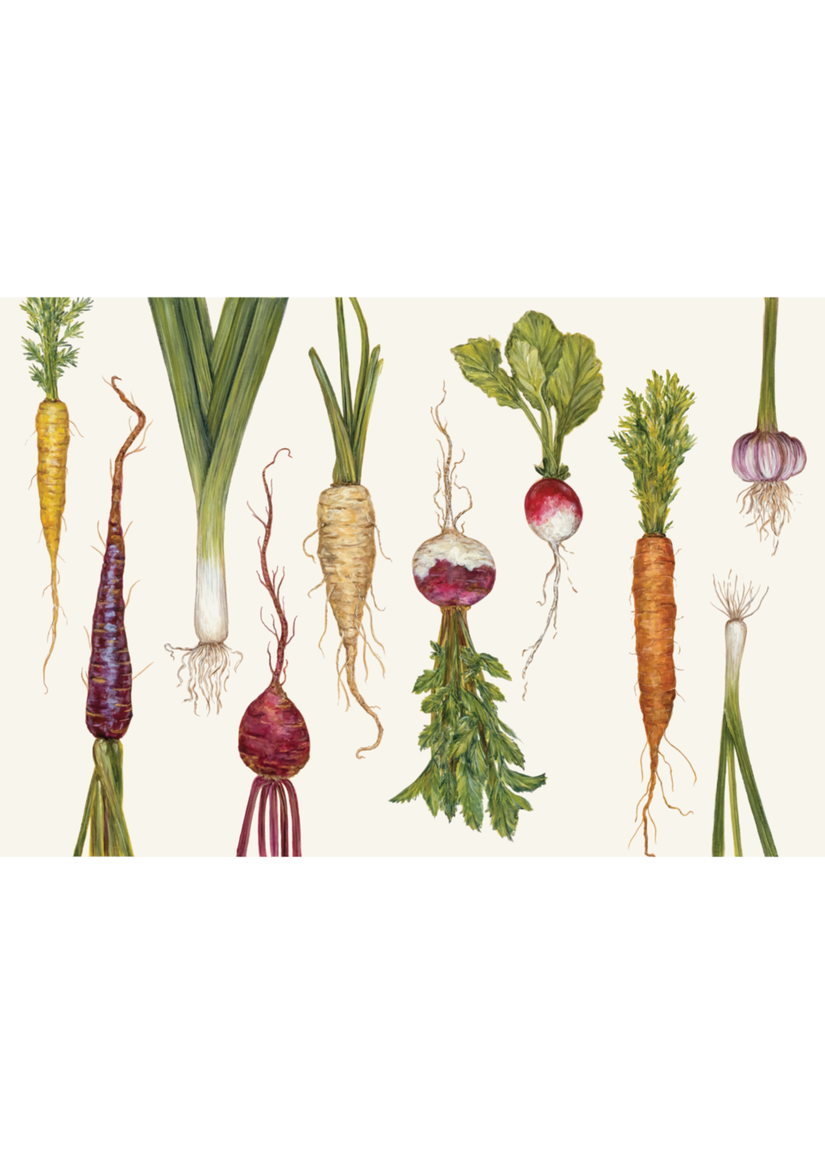 Hester & Cook Paper Placemats - Natural Farmer's Market