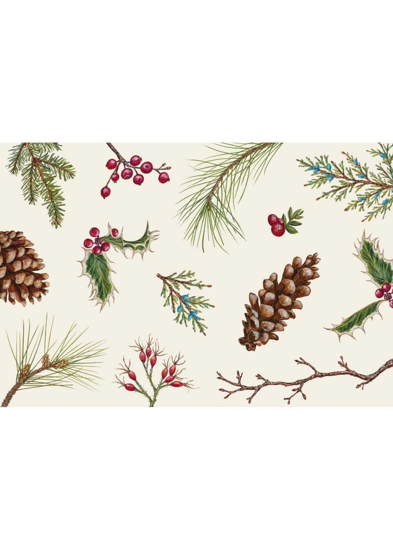 Hester & Cook Paper Placemats - Winter Collage