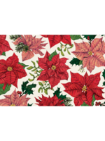 Hester & Cook Paper Placemats - Festive Poinsettias