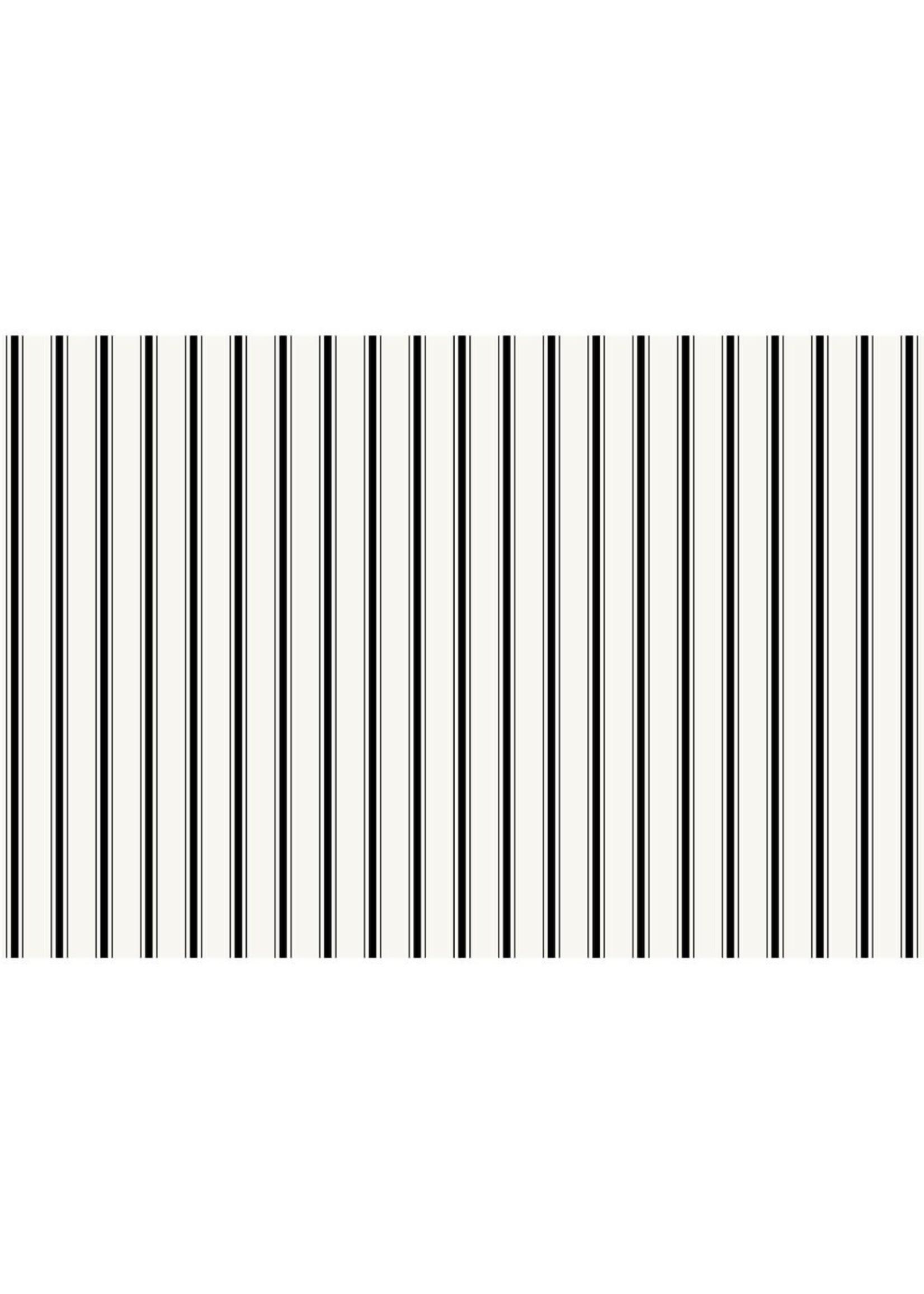 Hester & Cook Paper Placemats - Ribbon Stripe Black