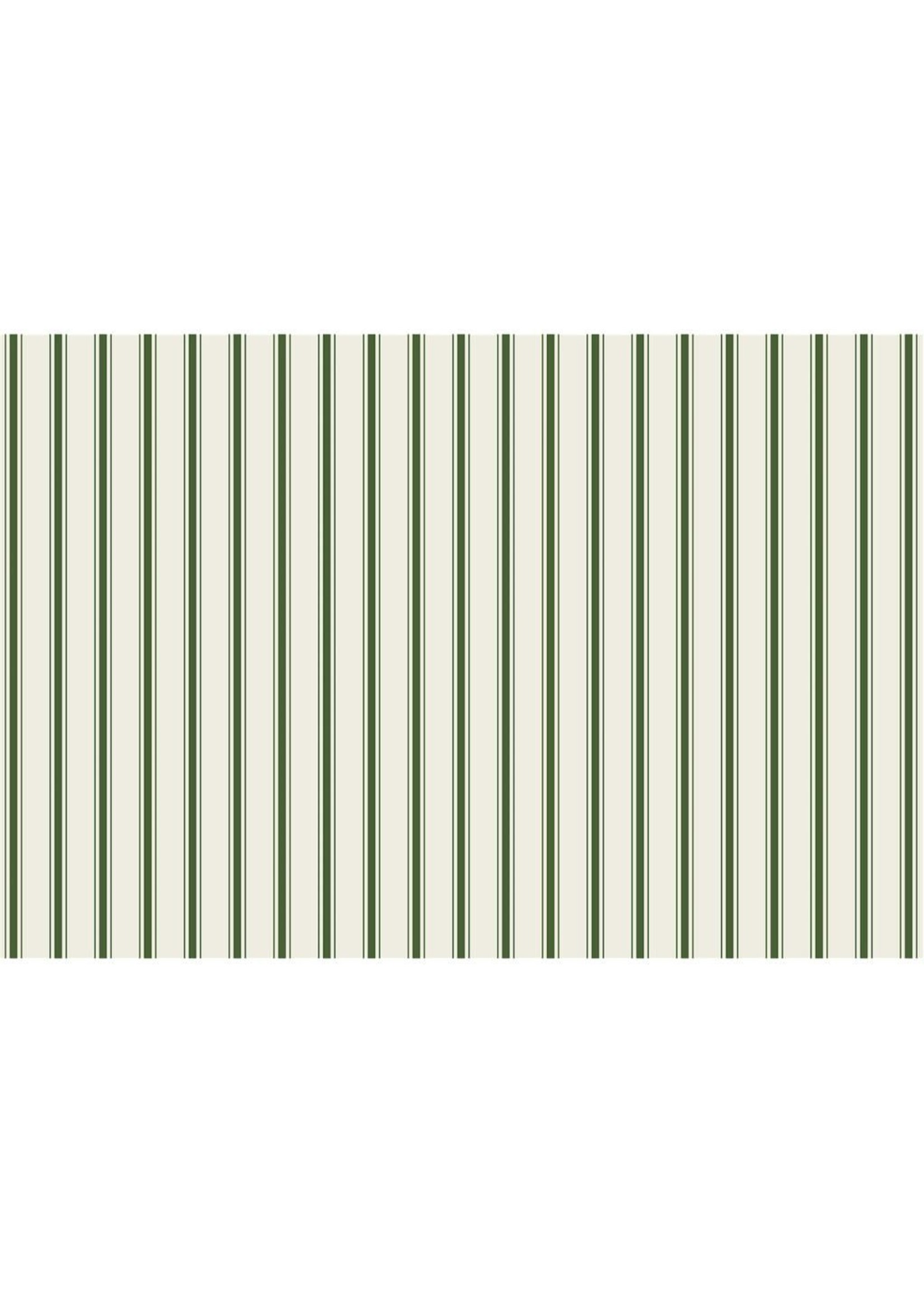 Hester & Cook Paper Placemats - Ribbon Stripe Green