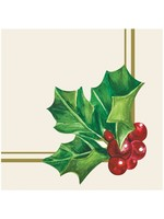 Hester & Cook Paper Cocktail Napkins - Holly