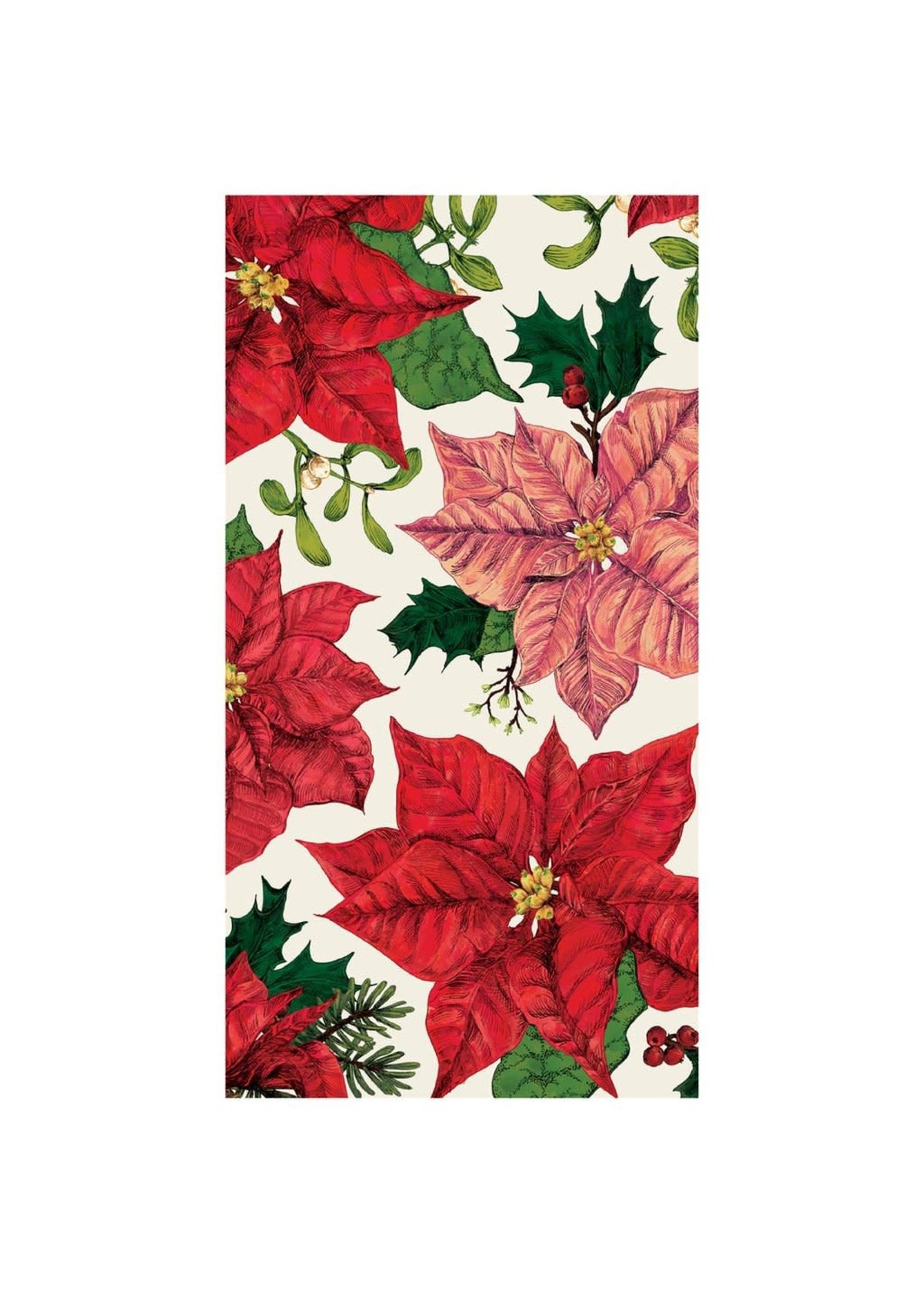 Hester & Cook Paper Guest Napkin - Poinsettia
