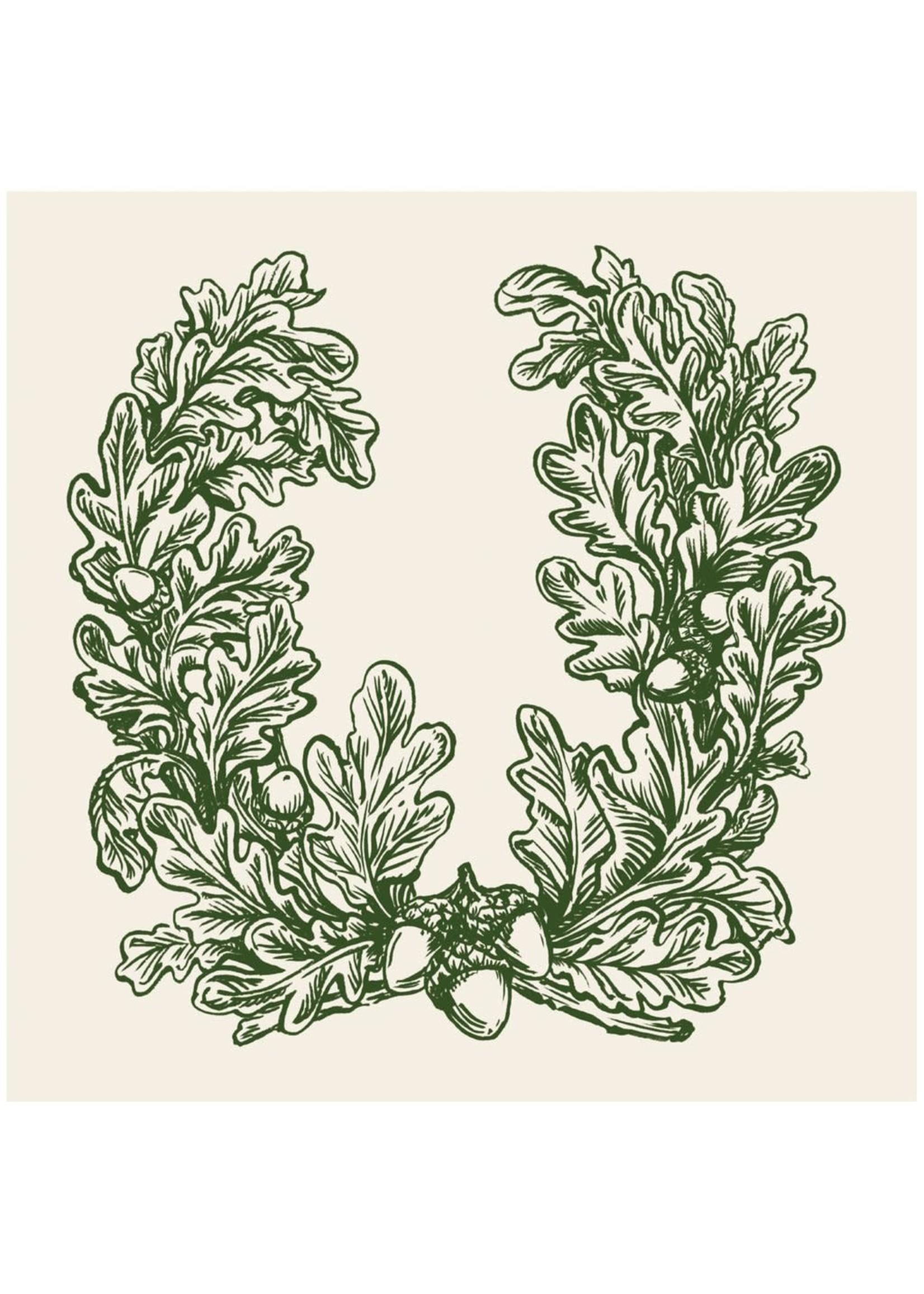 Hester & Cook Paper Cocktail Napkins - Oak Leaves