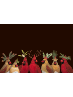 Hester & Cook Paper Placemats - Cardinal Party