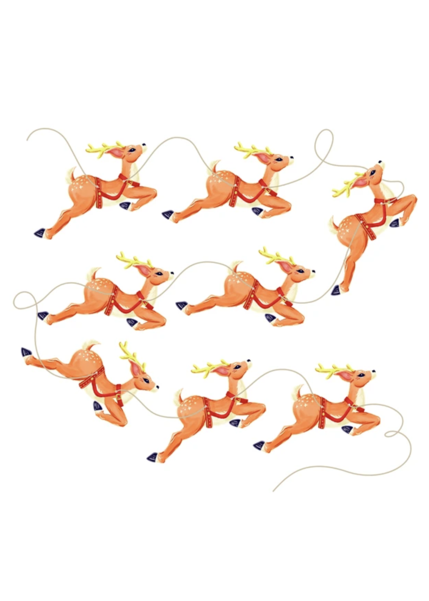 Hester & Cook Eight Tiny Reindeer Bunting (set of 8)