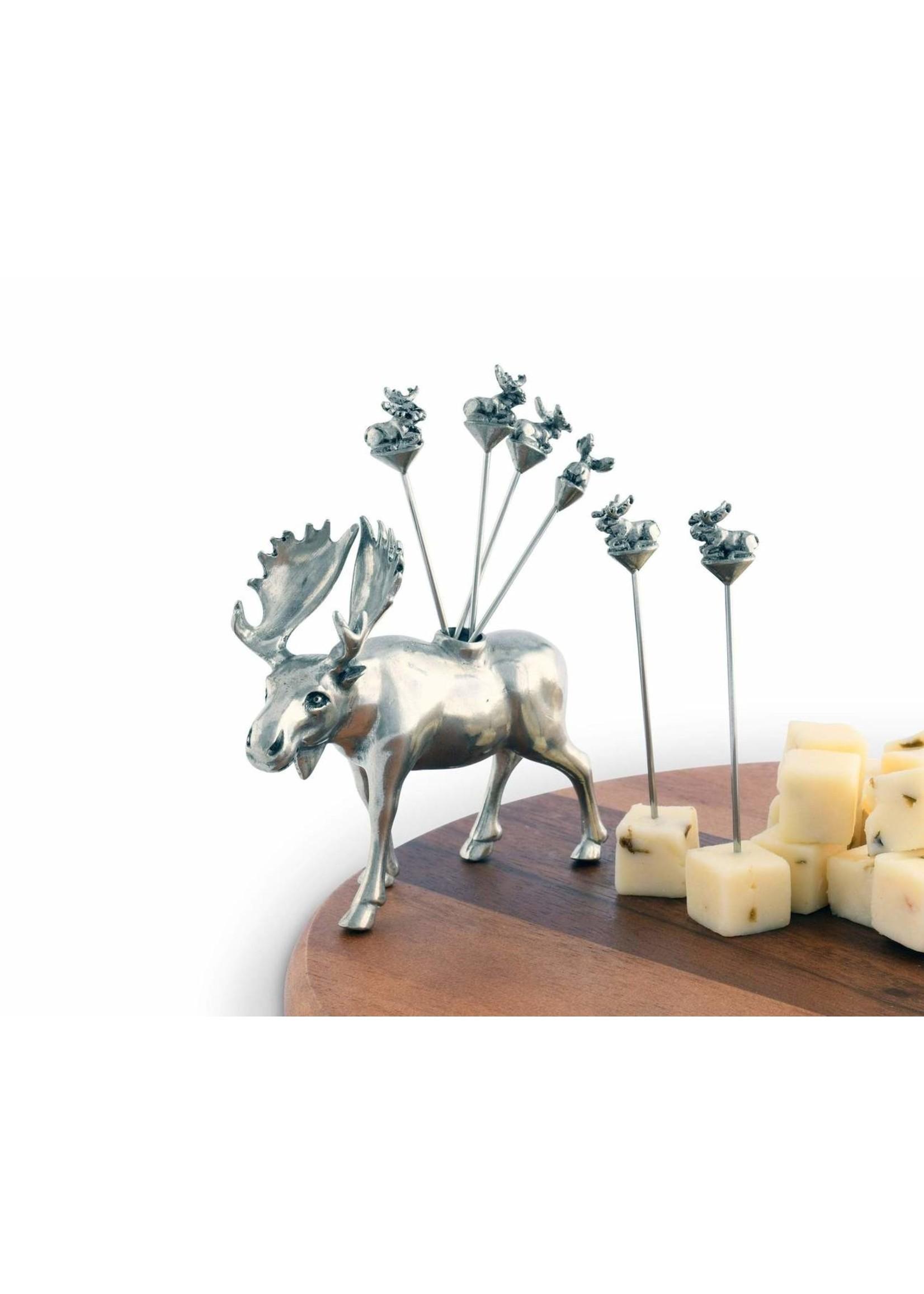 Cheese Pick Set - Moose