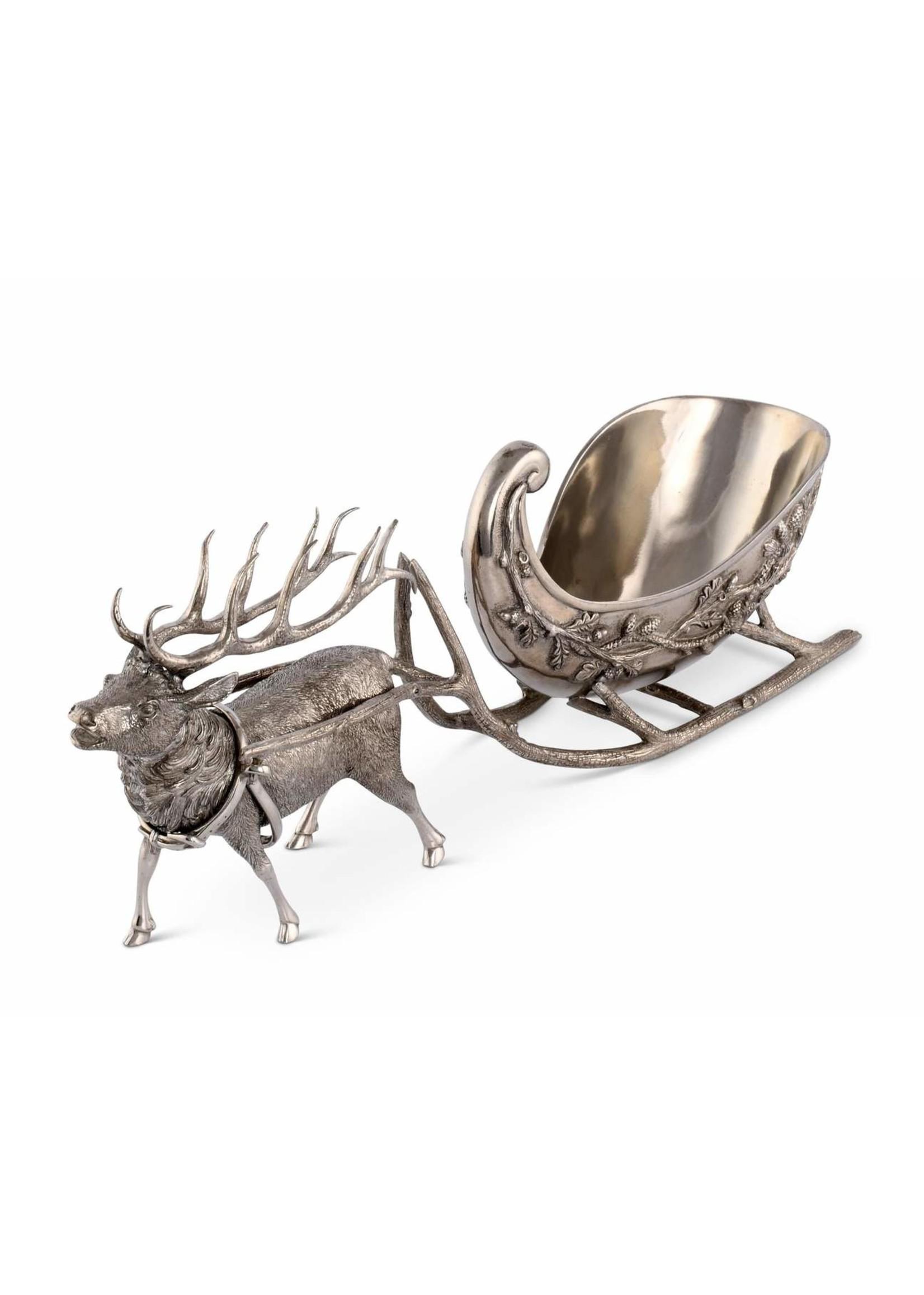 Pewter Reindeer Sleigh