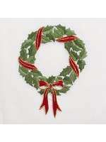 Henry Handwork Towel - Holly Ribbon Wreath