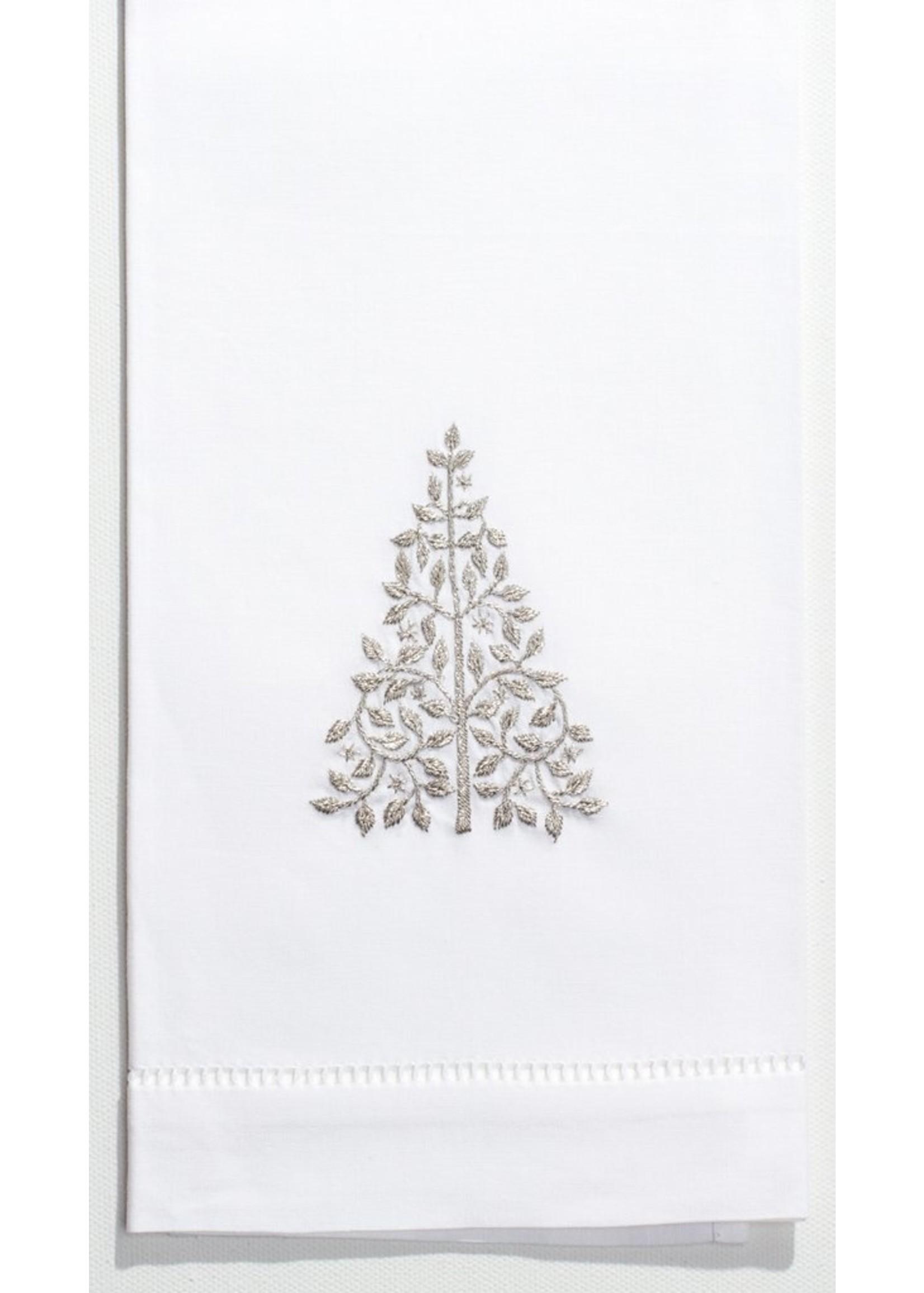 Henry Handwork Towel - Mod Tree Silver