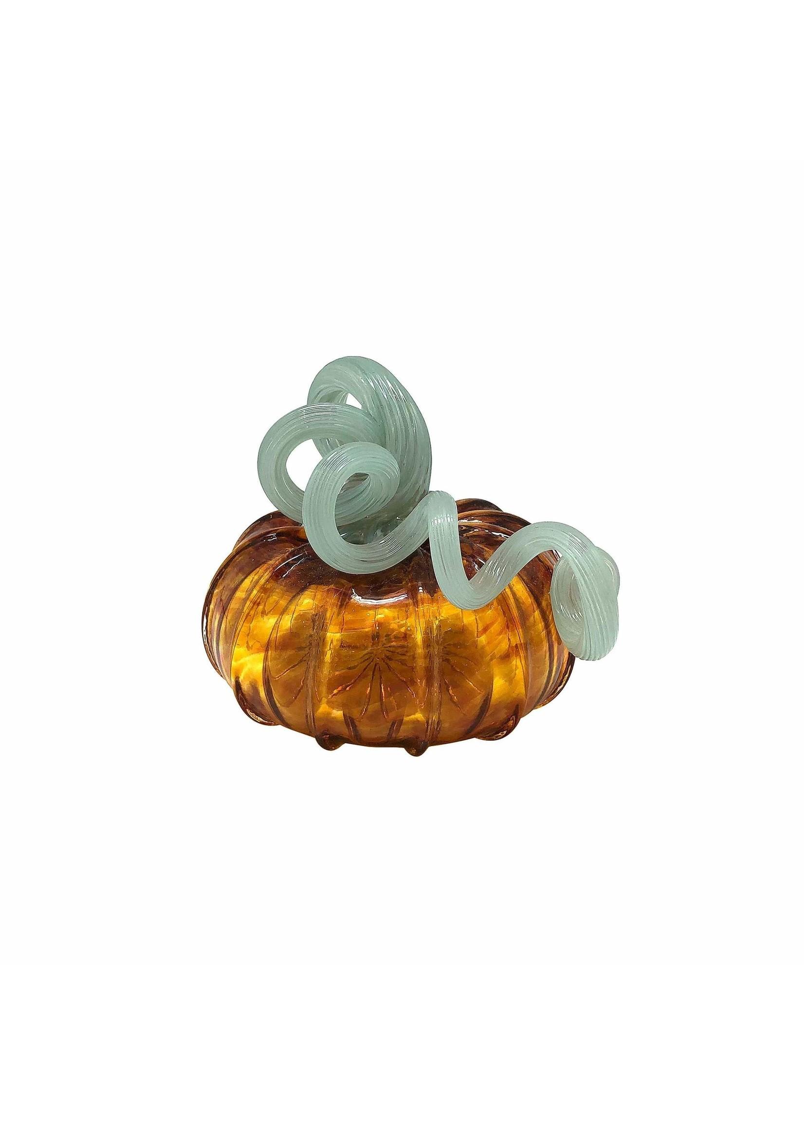 Pumpkin Glass - Amber Small