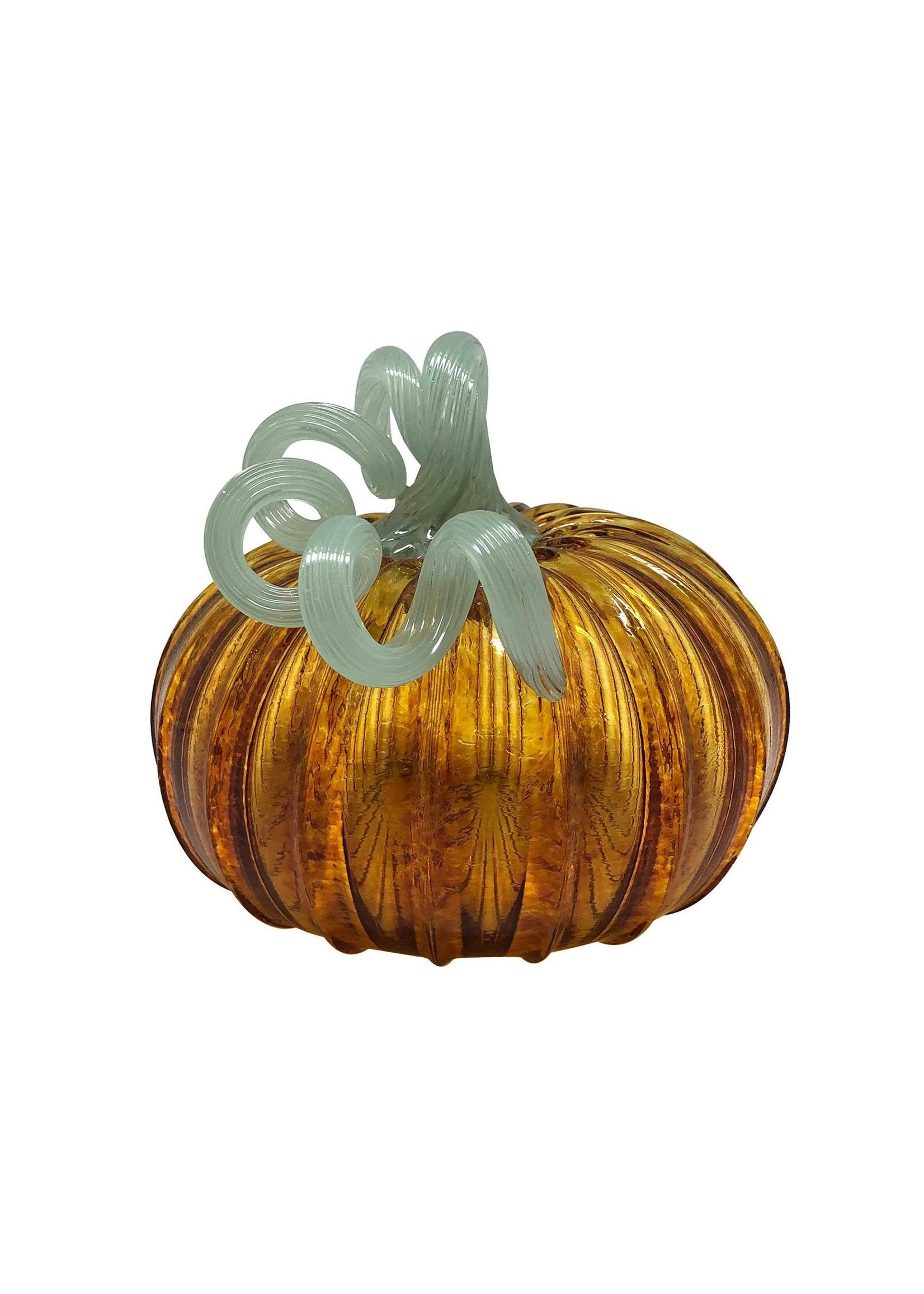 Pumpkin Glass - Amber Large