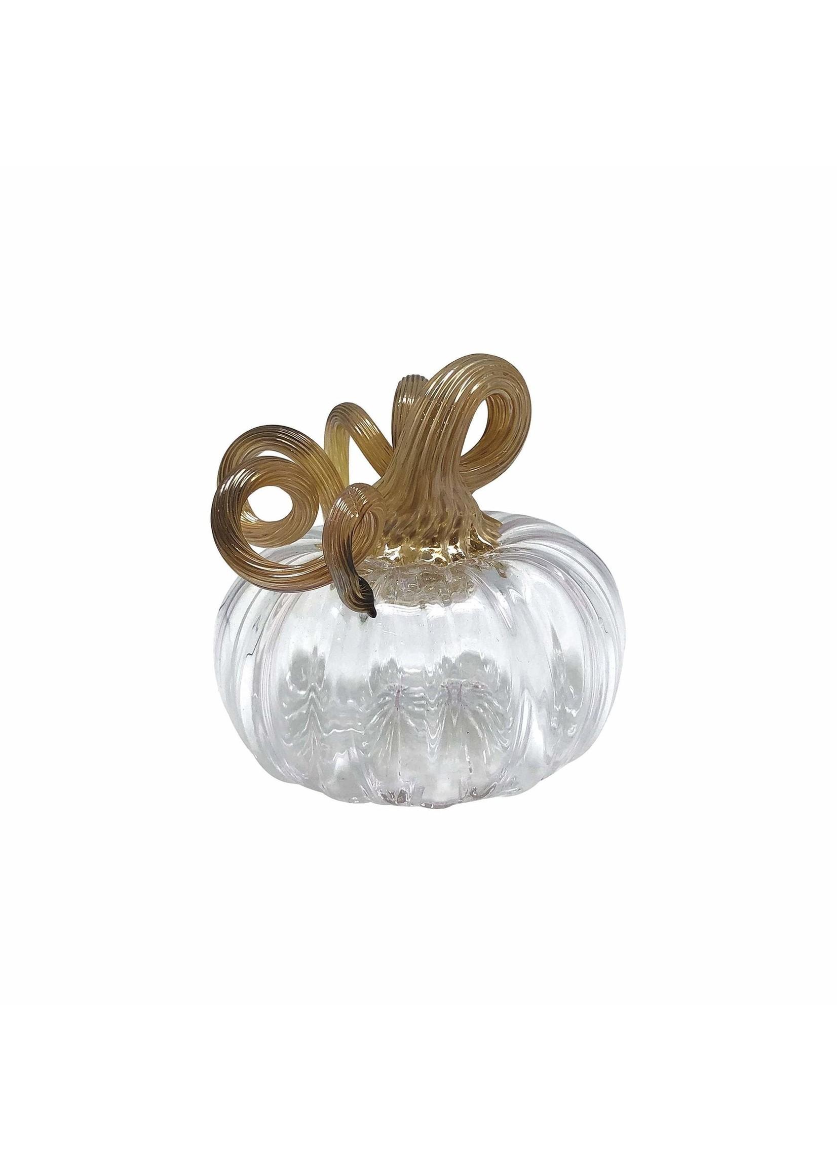 Pumpkin Glass - Clear Small