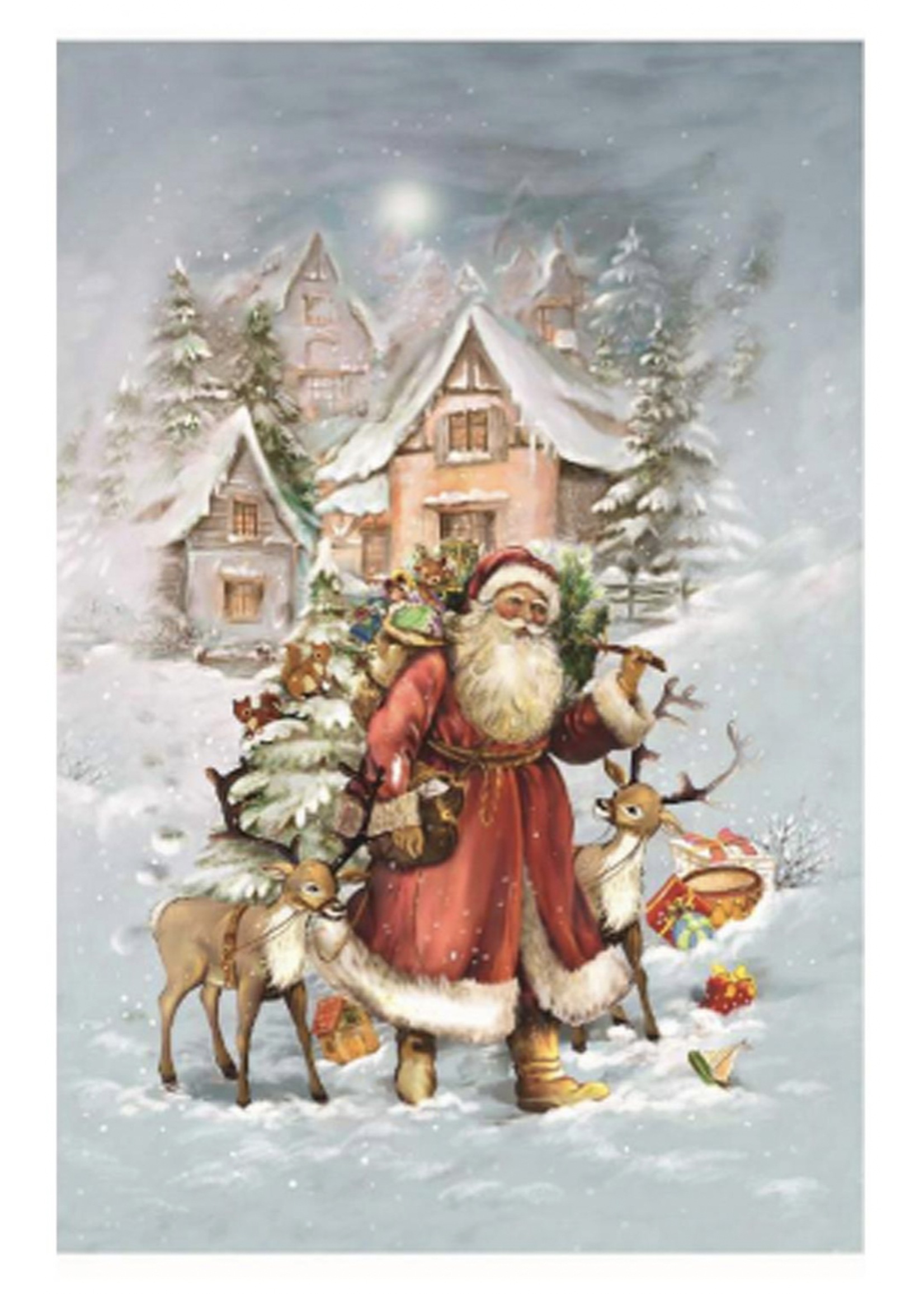 Advent Calendar - Santa with Reindeer