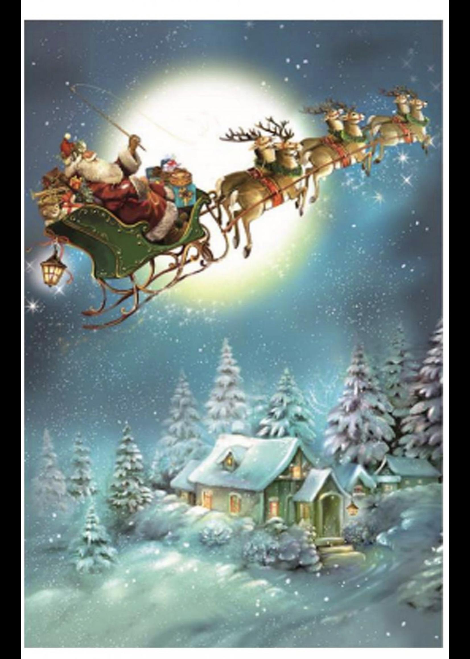 Advent Calendar - Santa with Sleigh & Reindeer