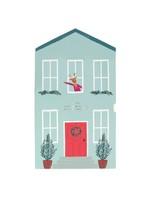 Meri Meri Advent Calendar - Festive House Paper Craft