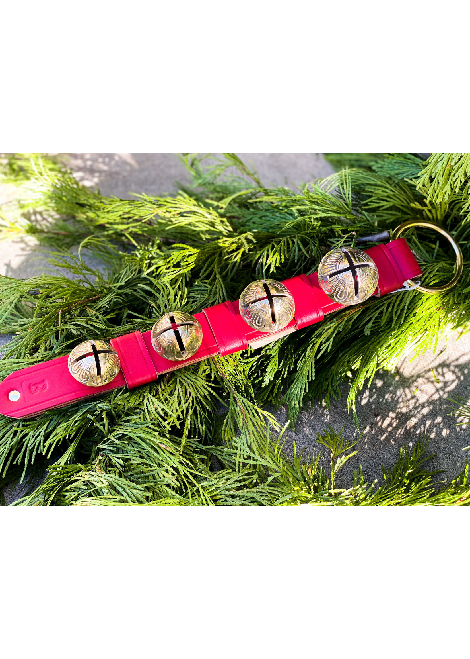 Bells - Keeper 4 Bell Strap with Rivet - Red