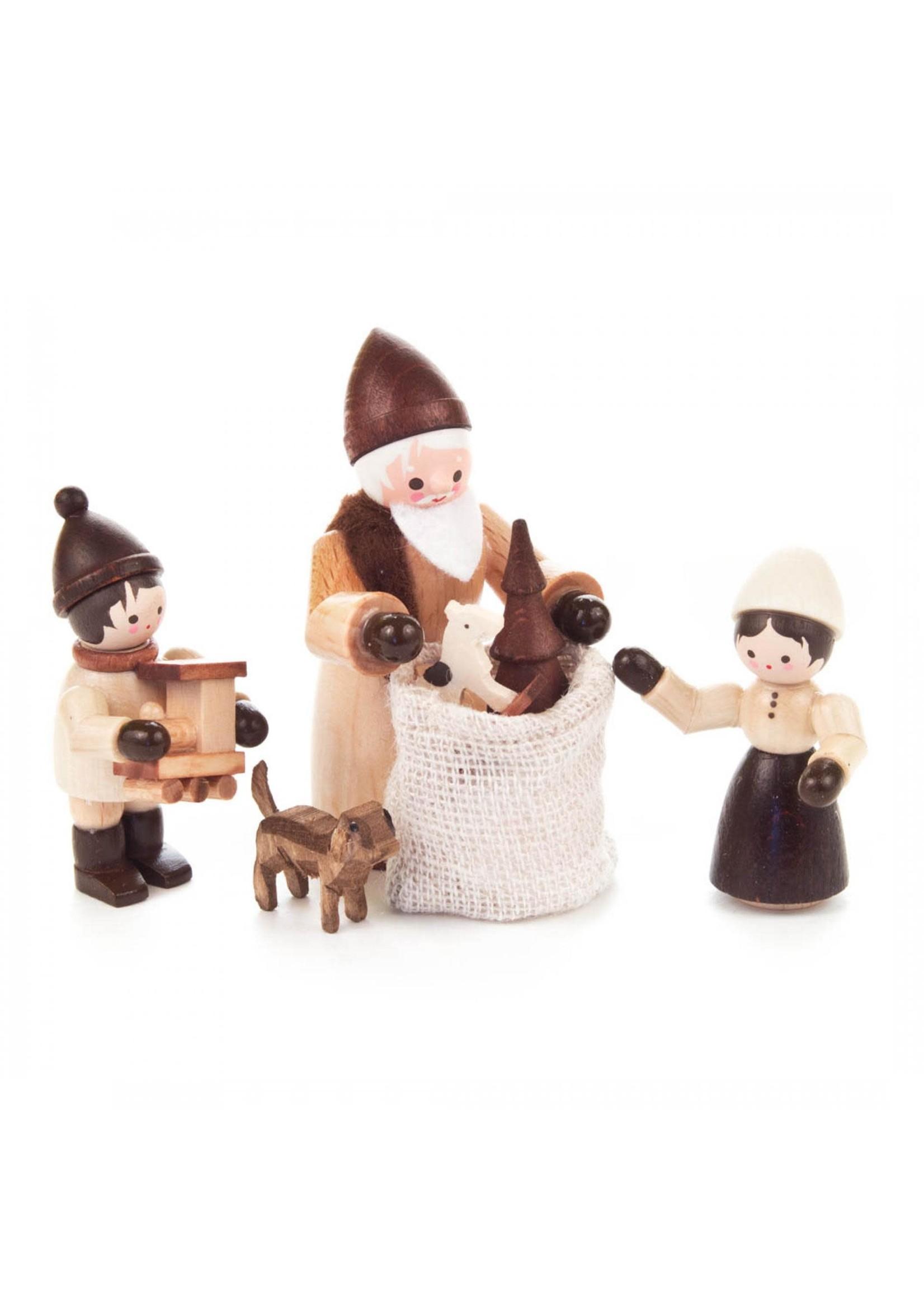 Santa and Children (4 piece set)