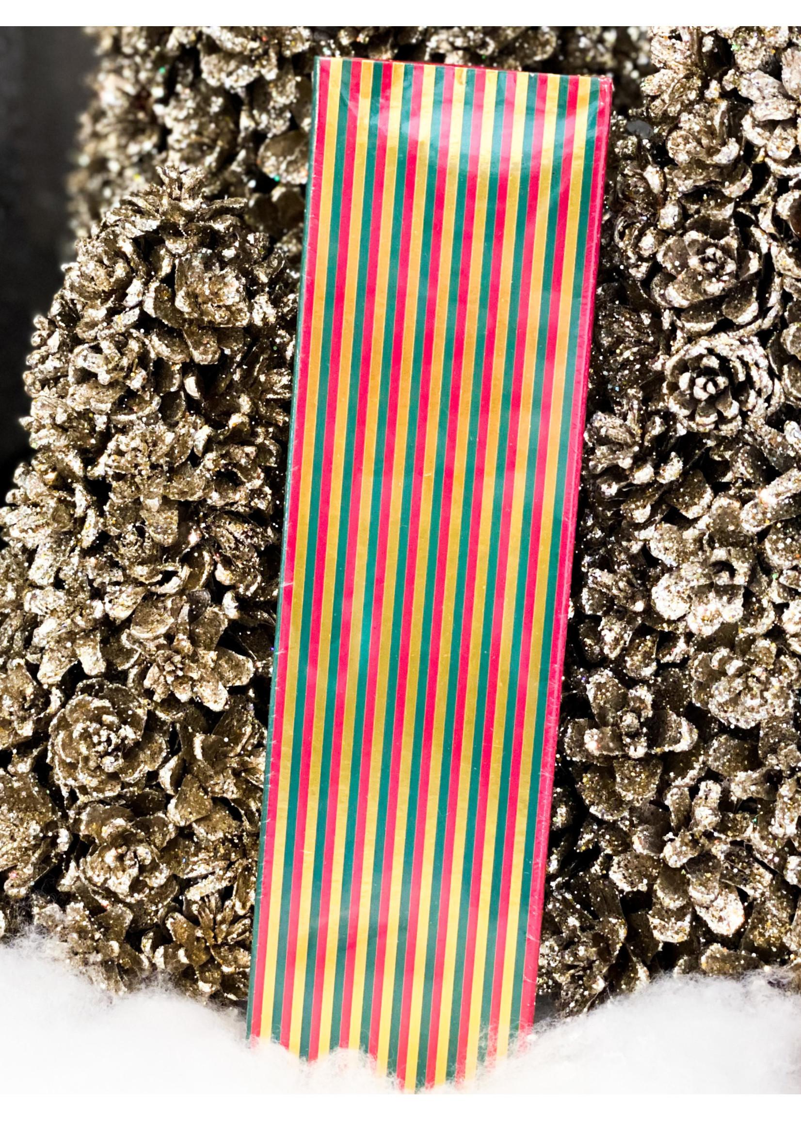 Matchbox - Fireplace Matches - Holiday Stripes