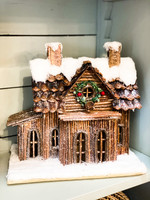 Snow Log Cabin