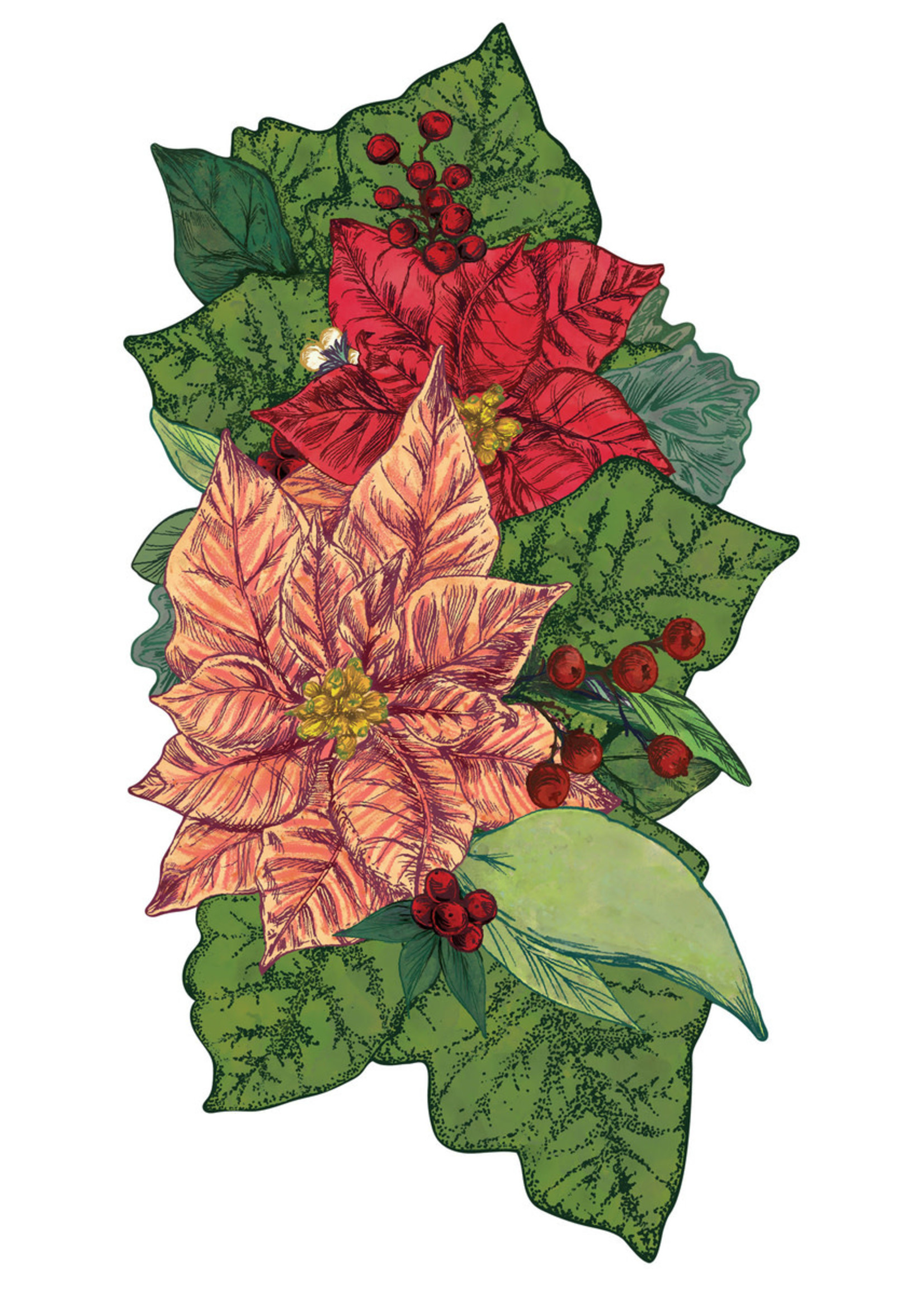 Hester & Cook Table Accent - Poinsettia