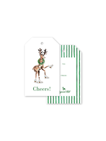Dogwood Hill Gift Tags - Charleston Citrus Reindeer (pack of 10)