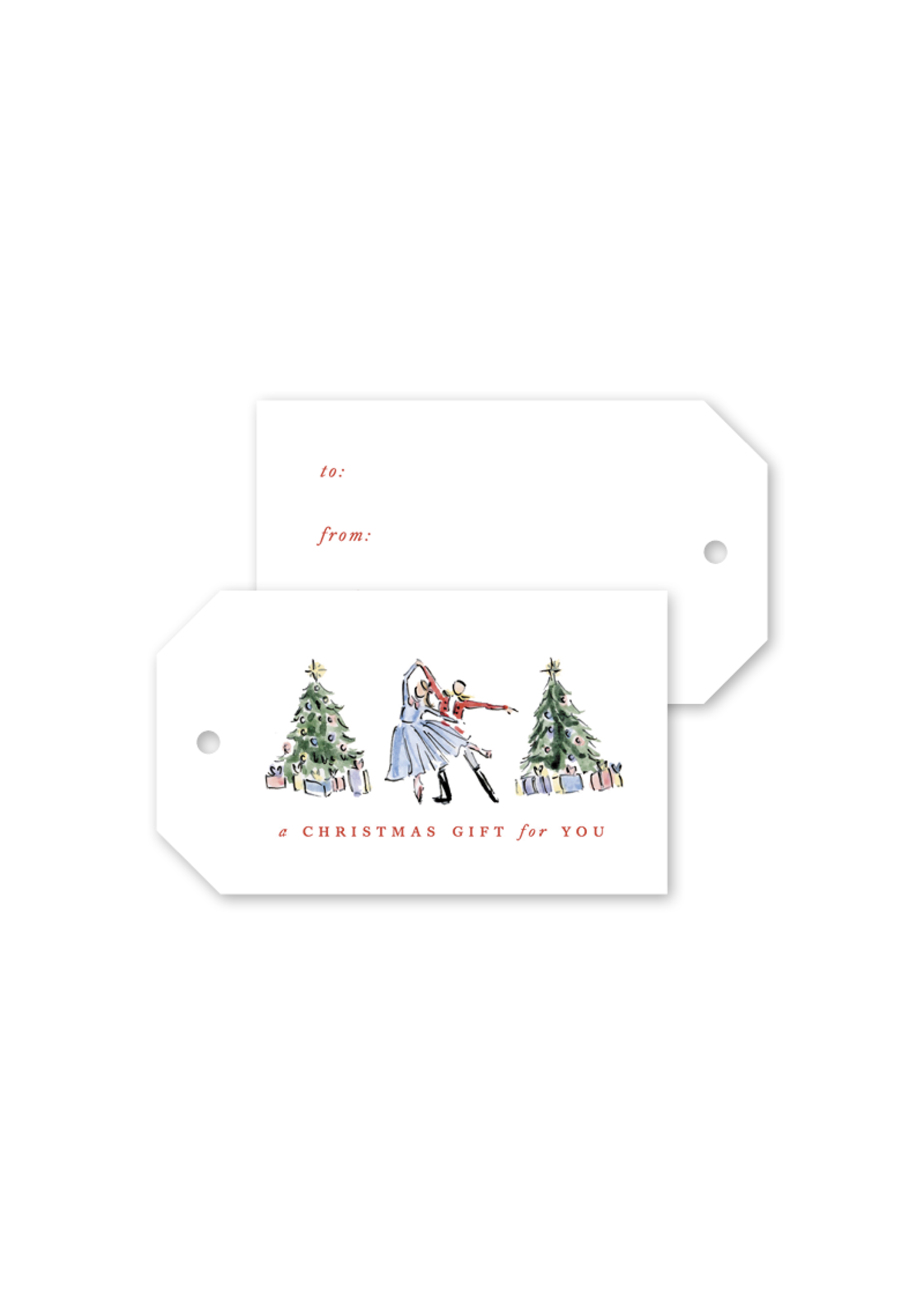 Dogwood Hill Gift Tags - Nutcracker Toile (pack of 10)
