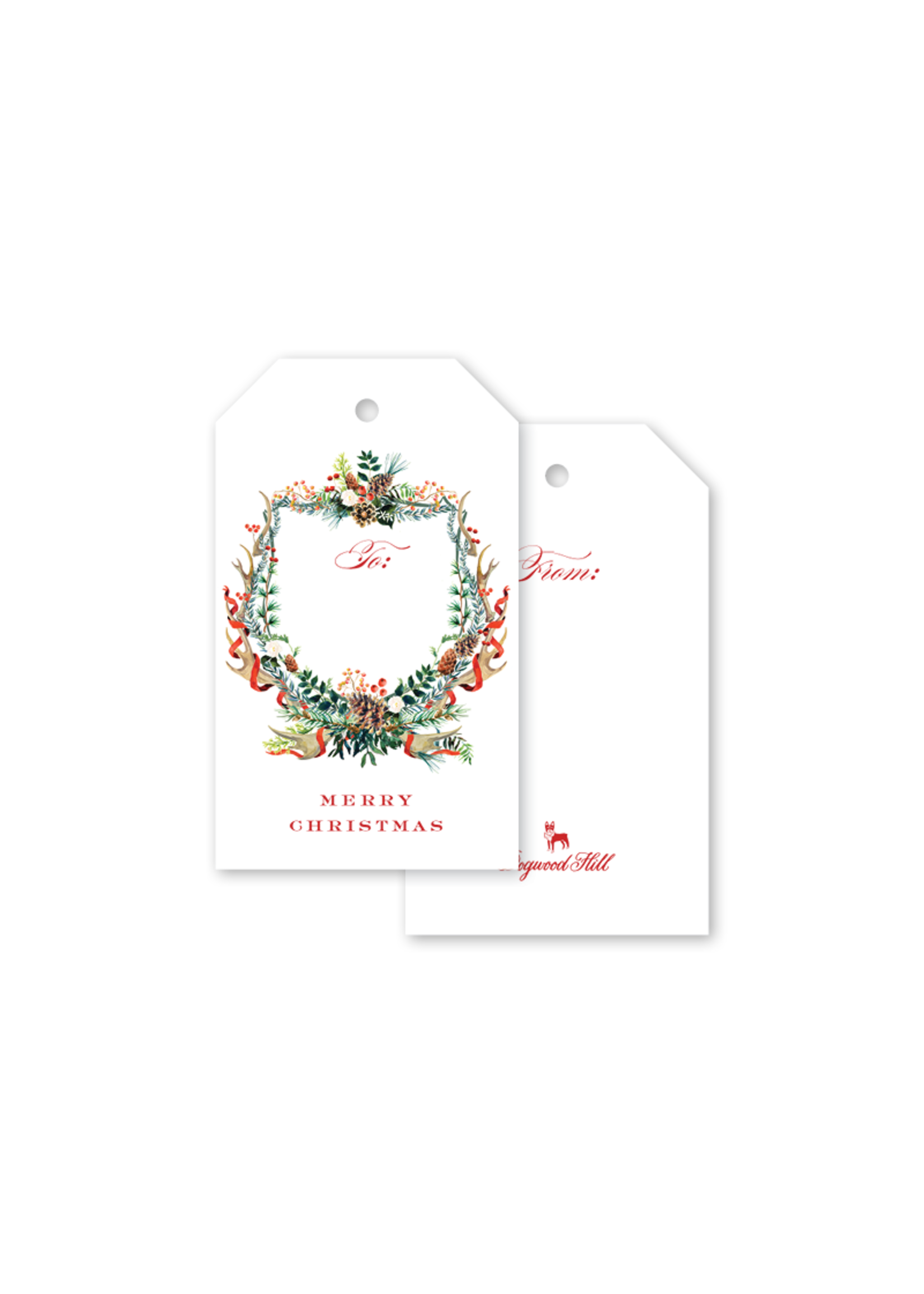 Dogwood Hill Gift Tags - Antler Crest