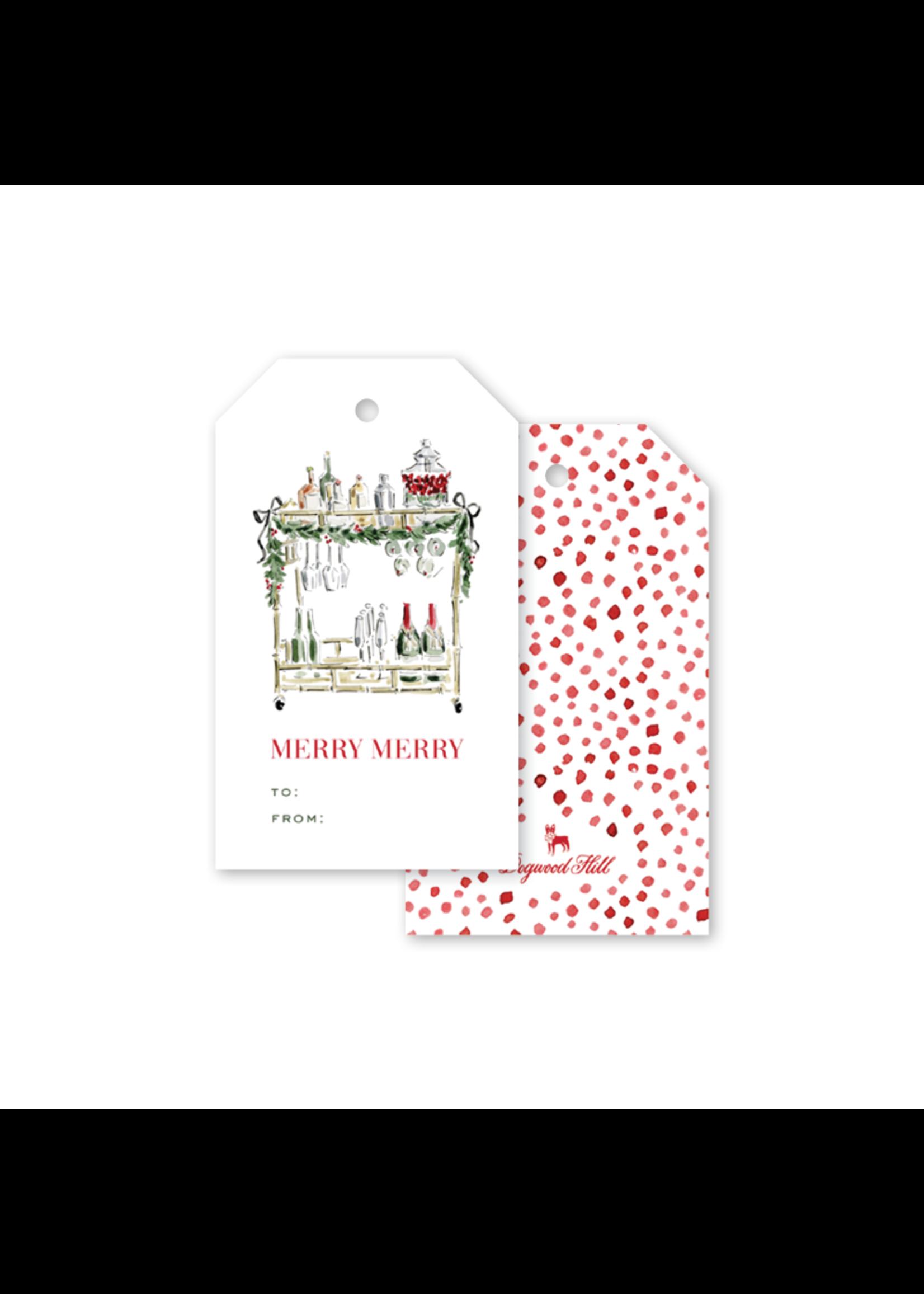 Dogwood Hill Gift Tags - Christmas Spirits Cart