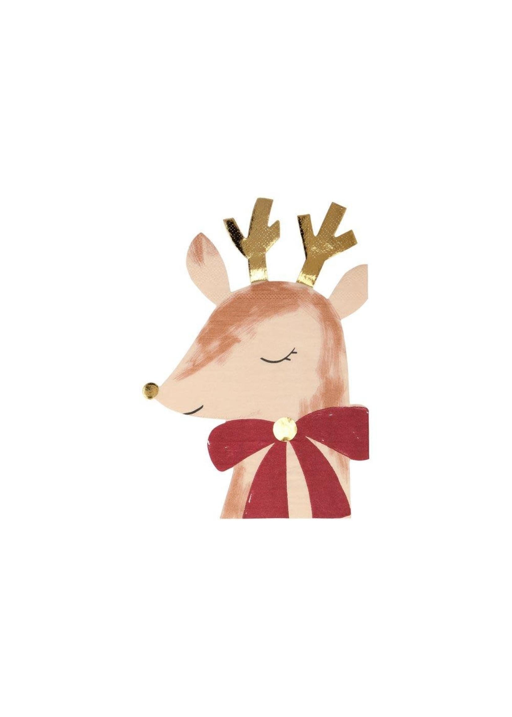 Meri Meri Paper Napkins - Reindeer with Bow