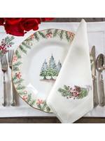 Crown Linen Napkin Large - Natale Sprig - Cream