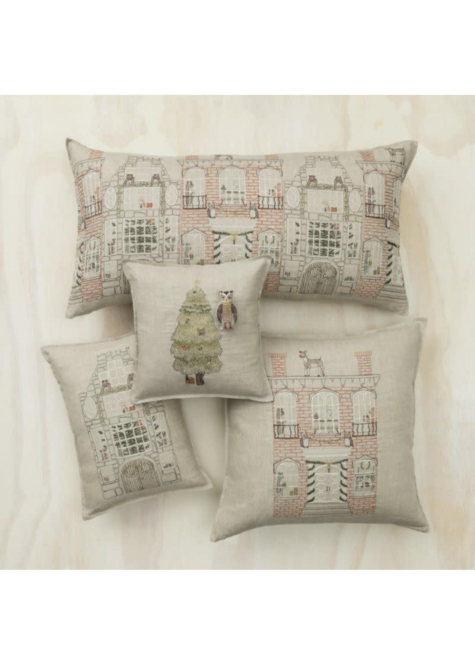 Coral and Tusk Pocket Pillow - 12x12 - Christmas Tree Owl