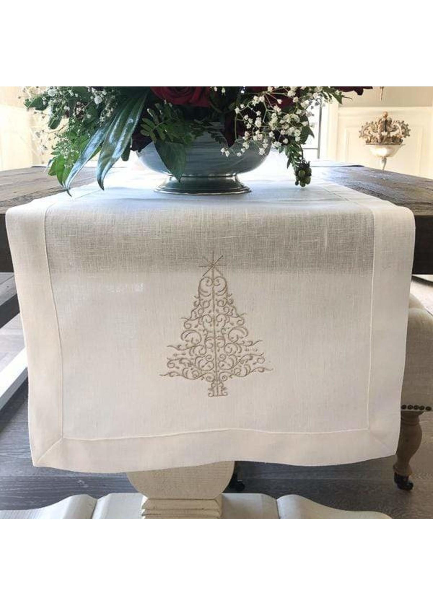 """Crown Linen Runner - Sparkle Tree - White - 70"""""""
