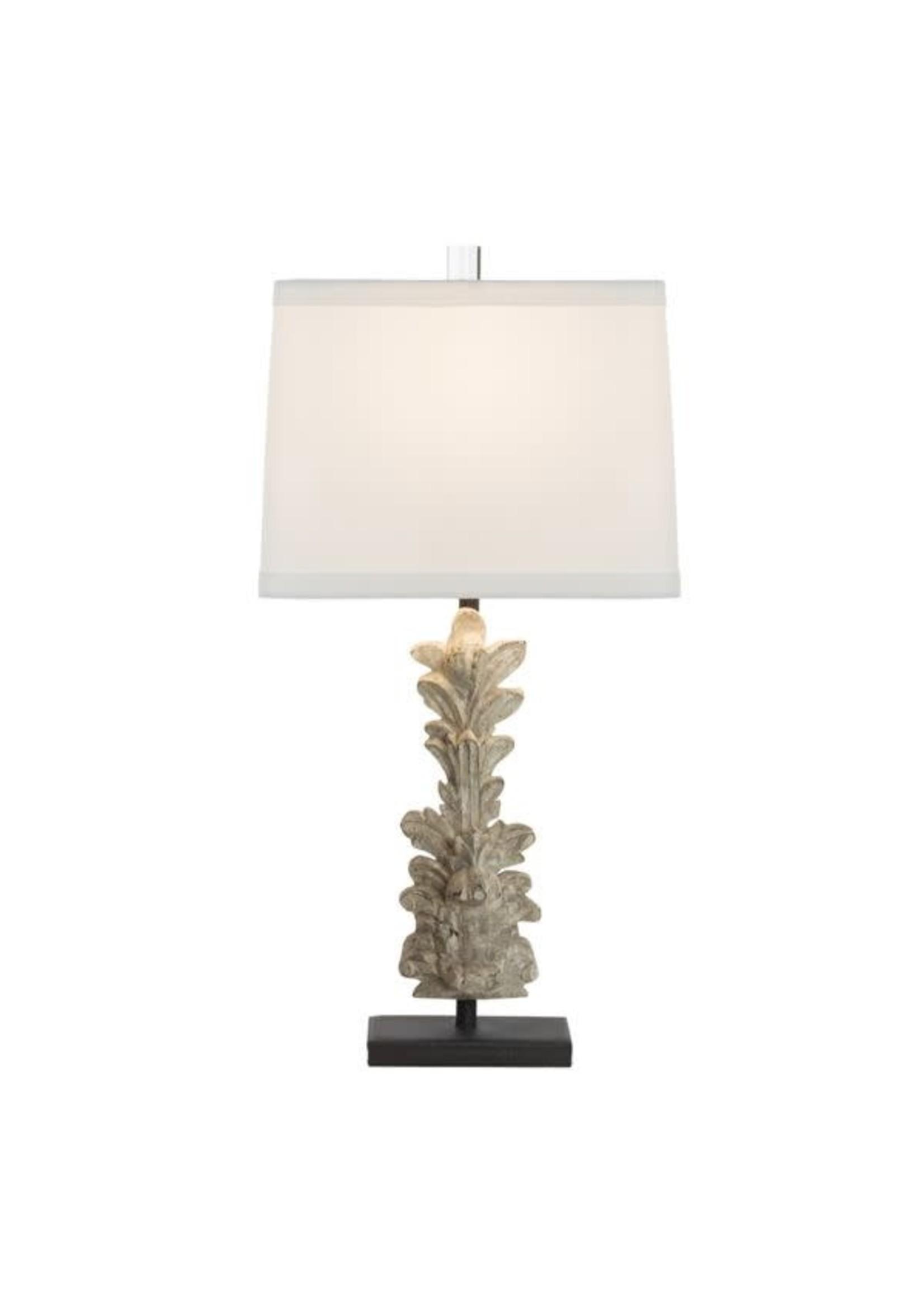 Aidan Gray Table Lamp - Hestal Carved Fragment