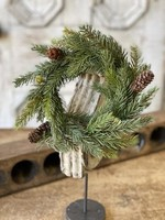 """Candle Ring - White Spruce 9"""""""