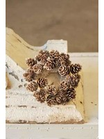 """Candle Ring - Shimmer Pine Cone 4"""""""