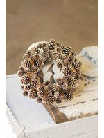 """Candle Ring - Shimmer Pine Cone 6"""""""