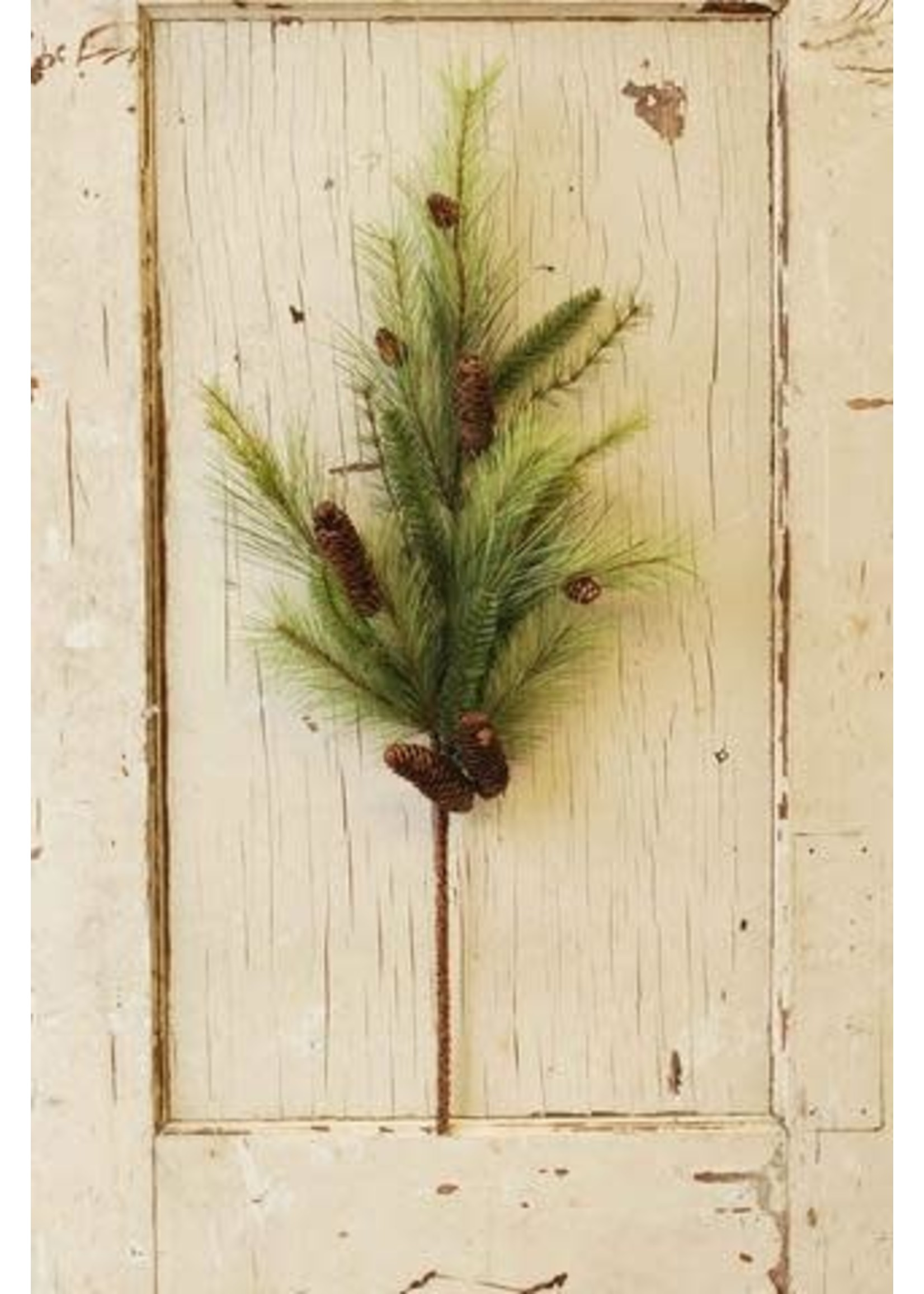 """Spray - Pine with Cone 35"""""""