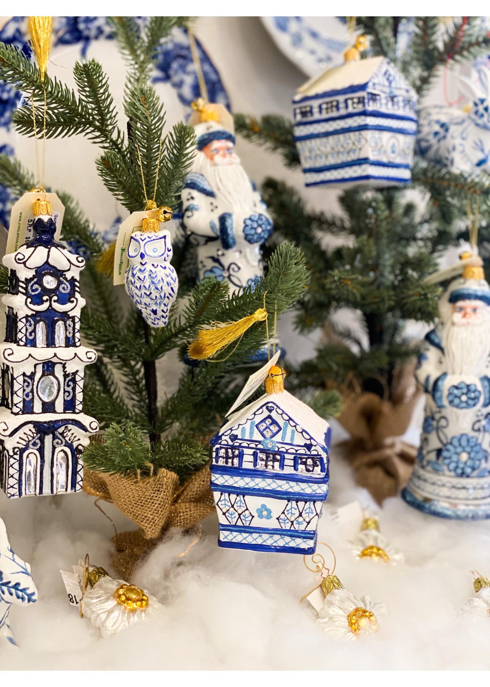 Jingle Nog Ornament - Wee Whoo - Blue