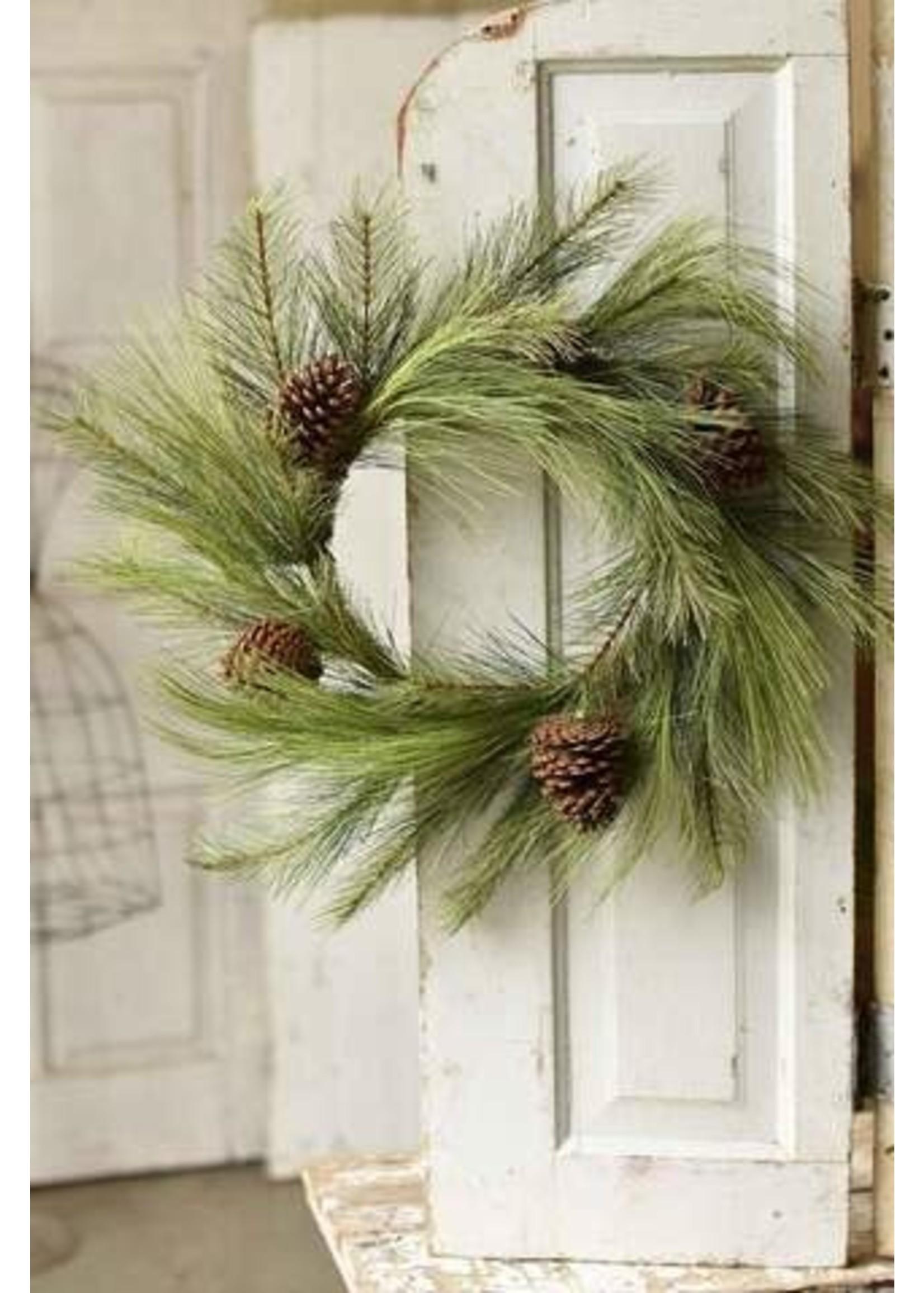 "Wreath - Pine Mixed Needle 24"""