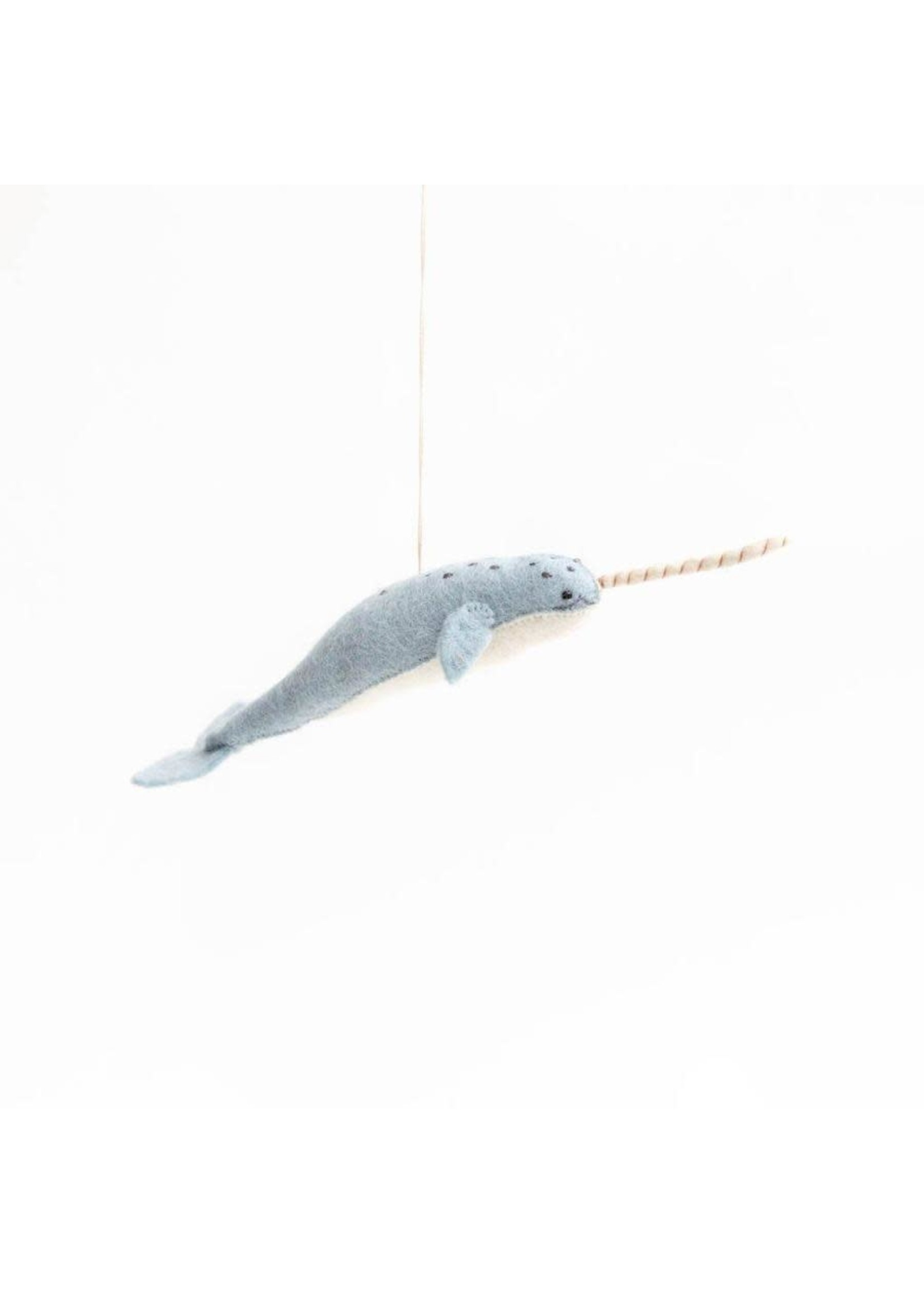 Ornament - Mystical Narwhal - Gray/Blue