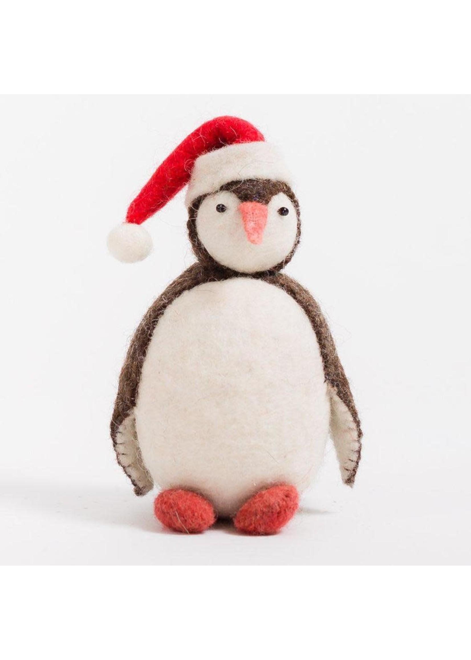Ornament - Penguin - Eskimo with Santa Hat