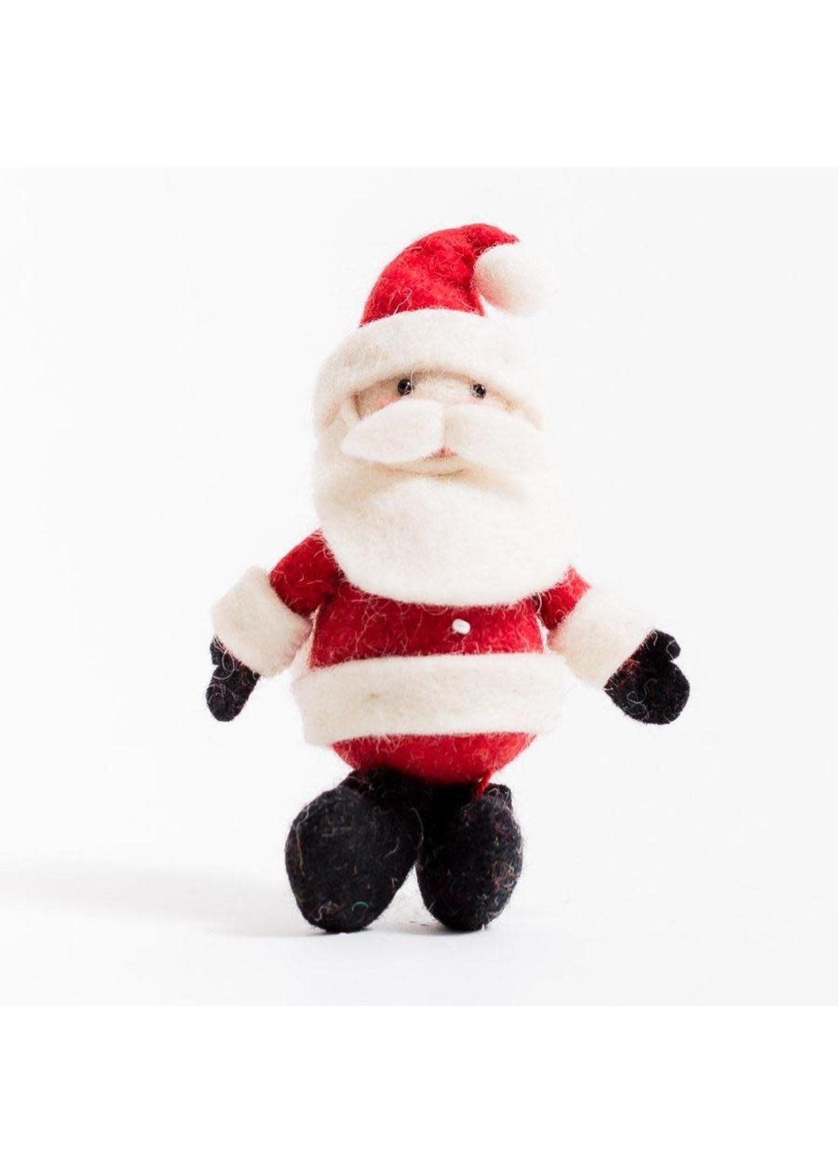 Ornament - Santa - Charcoal Boots