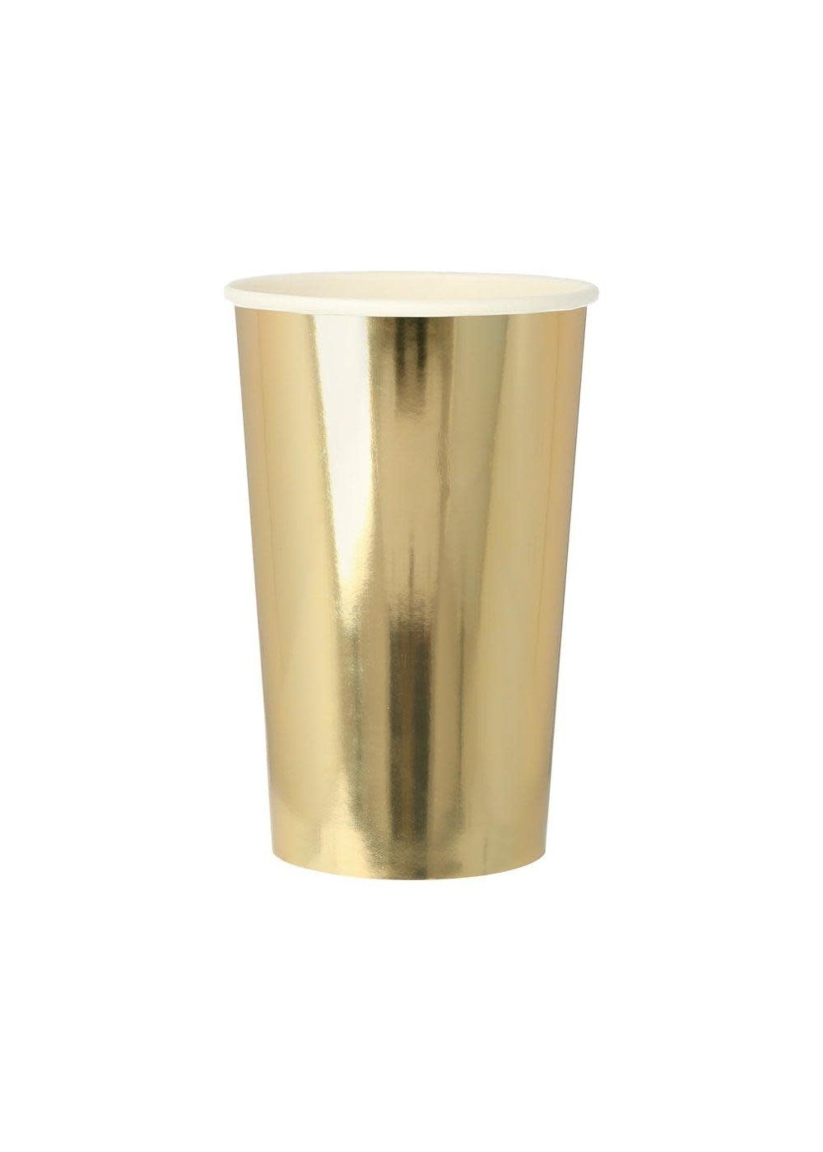 Meri Meri Paper Cups - Gold Highball